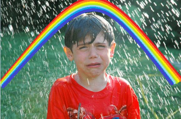 rain cry kid