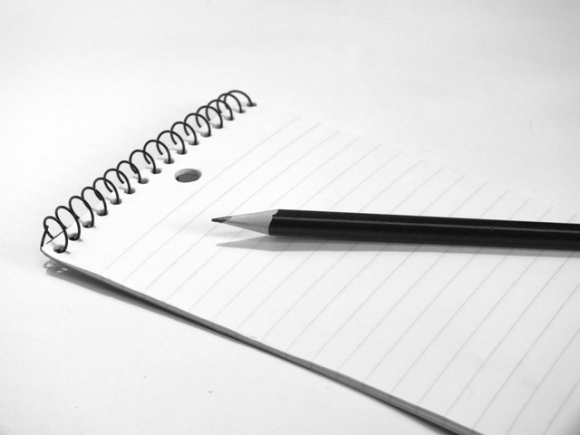 pencil_on_lined_paper_1_bw_FreeTiiuPix